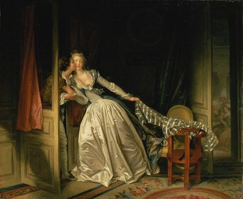 Jean-Honoré Fragonard - The Stolen Kiss. At give sig tid til et stævnemøde, at være langsom.